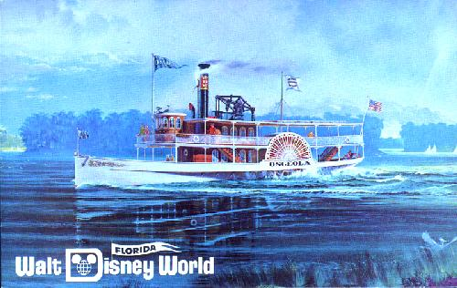 The Steamer Osceola with florida Flag logo