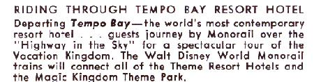 description paragraph from a Tempo Bay Card