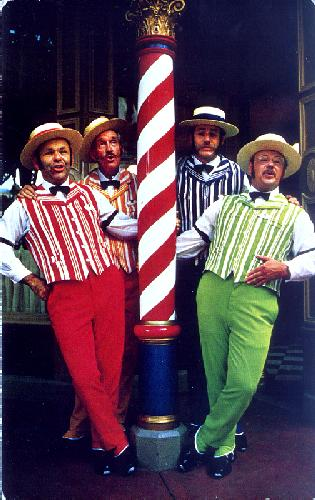 01110219 THE DAPPER DANS  left to right Dick Kneeland Bub Thomas Jerry Siggins Bob Mathis